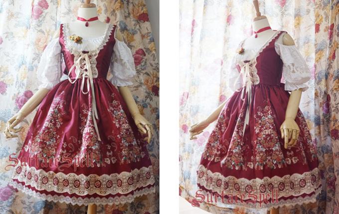 Light Wine Red Lolita Skirt