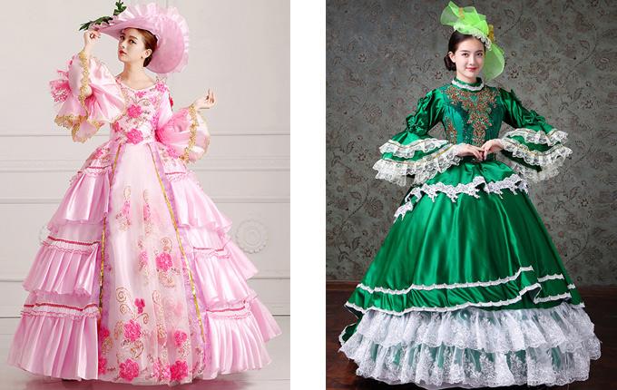 Trumpet Sleeve Lolita Prom Long Trailing Dress