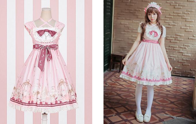Pink Sweet Lolita Sling Dress