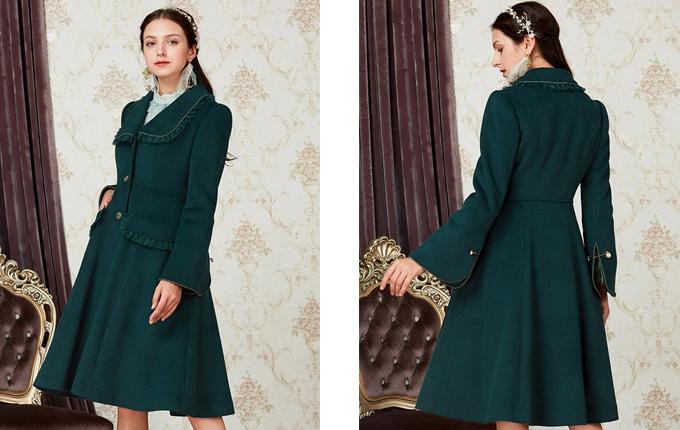Lolita Green Woolen Coat