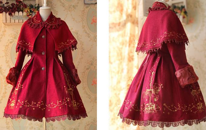Red Plus Cashmere Lolita Coat