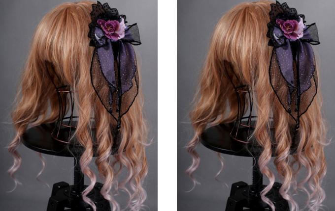Purple Rose Gothic Lolita Hair Clip