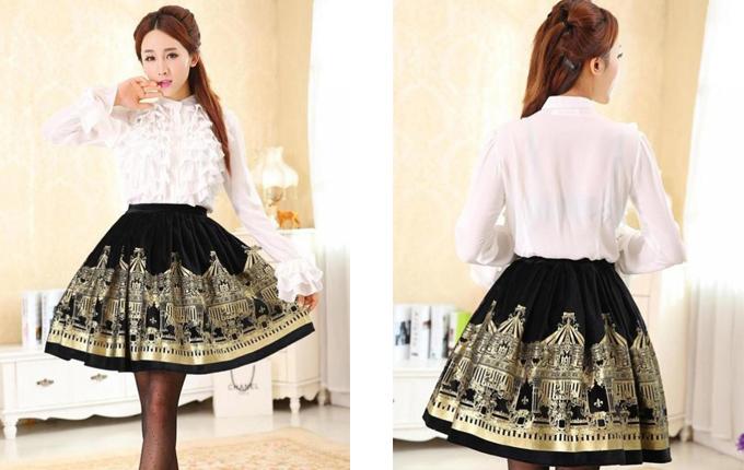Velvet Lolita Skirt