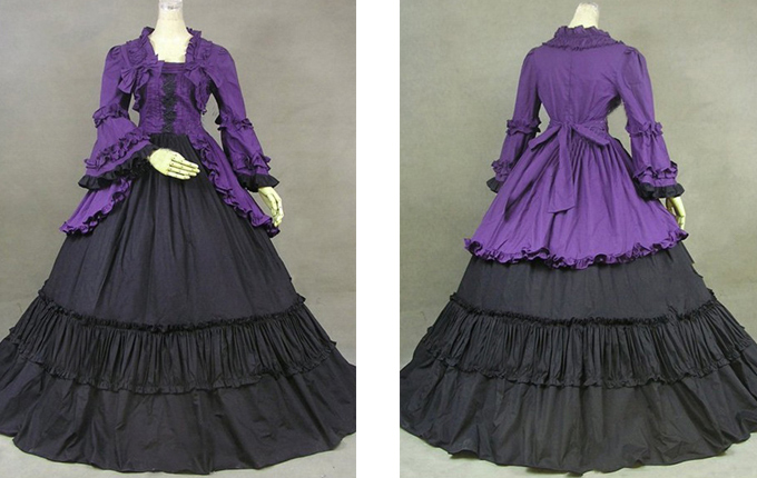 Purple And Black Lolita Prom Dress
