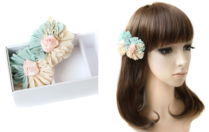 Mixed Color Flower Lolita Hairpin