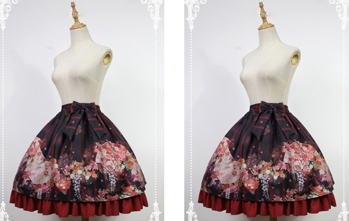 Nine-tailed Fox Printed Lolita Skirt
