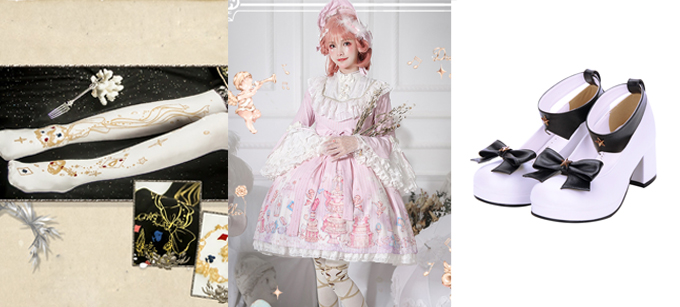 Sweet Lolita Trumpet Sleeve Dress