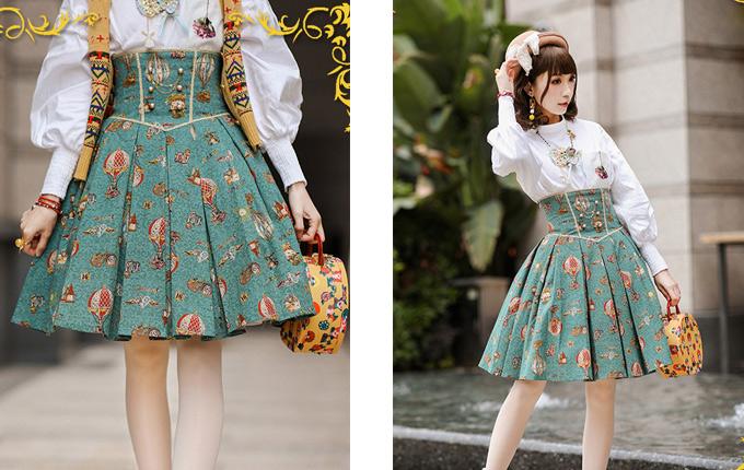 Classic Lolita Fish-bone Skirt