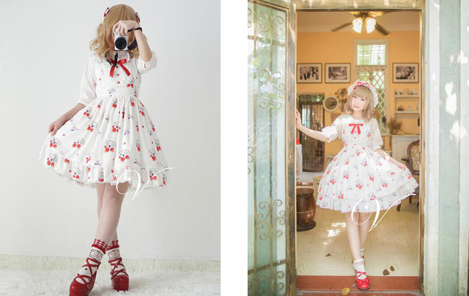 Cute Sweet Lolita Sling Dress