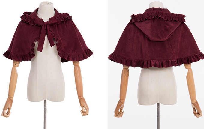 Pure Color Classic Lolita Cloak