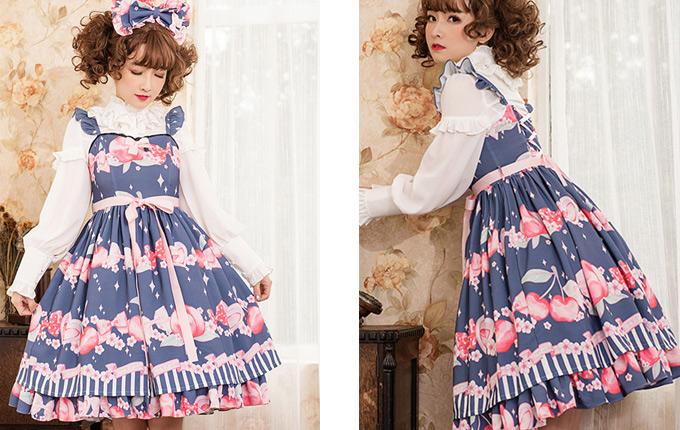 Printing Sweet Lolita Sling Dress
