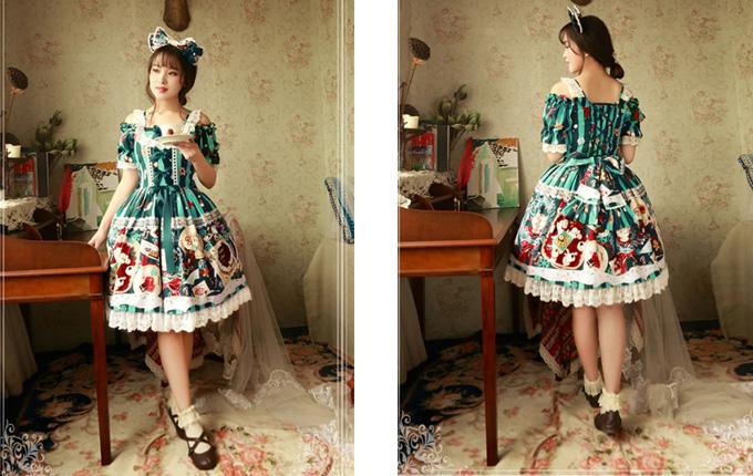 Cotton Lace Classic Lolita Short Sleeve Dress