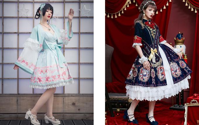 Classic Lolita OP Half Sleeve Dress Set