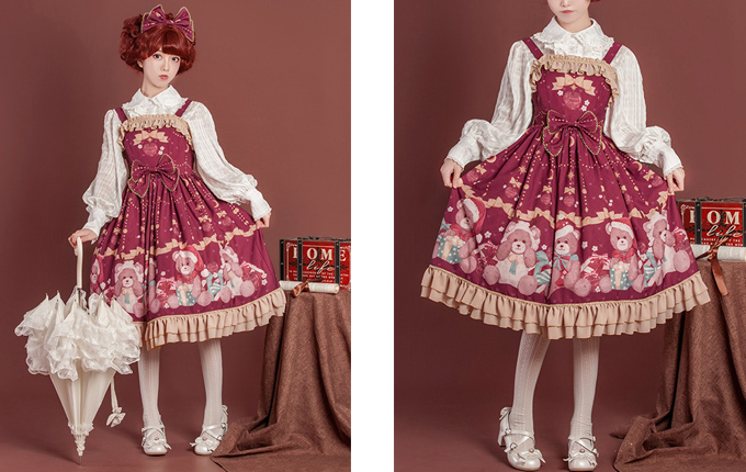Ruffle Sweet Lolita Sling Dress