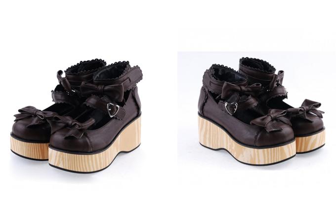 Bow Straps Platform Girls Lolita Shoes