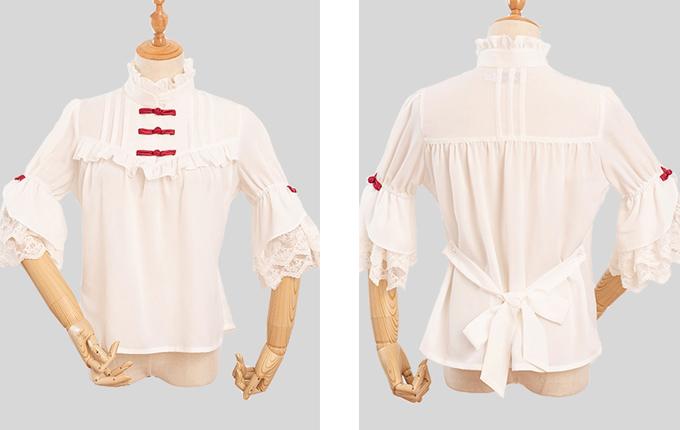 Chinese Style Classic Lolita Short Sleeve Shirt